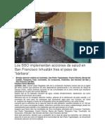 Junio-romonoticias Los SSO implementan acciones de salud en San Francisco Ixhuatán tras el paso de