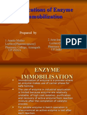 Applications Of Enzyme Immobilization Ppt Elisa Antibody