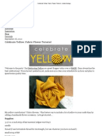 Celebrate Yellow_ Fabric Flower Tutorial - Simple Analogy