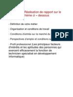 Objectif de rapport à realiser (1)