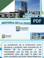 Desarrollo histórico del cuidado de enfermería.