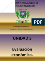Formulacion y Evaluacion de Proyectos de Inversion Unidad 5