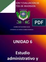Formulacion y Evaluacion de Proyectos de Inversion Unidad 6