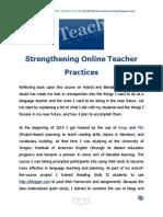 Strengthening Online Teacher Practices