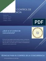 Técnicas y Control de concurrencia