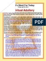 The Meaning Of Spiritual Adultery