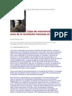 Historia de la influencia de la Revolución Francesa en el Perú