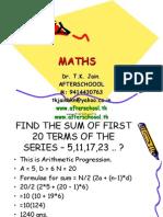 17 June Maths