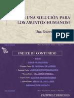 La Solucion de Los Asuntos Humanos