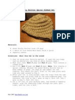 Knifty Knitter Spiral-Ribbed Hat Pattern