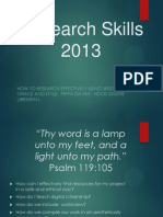 Research Skills 101 by Pippa Davies Heritage Christian Online School
