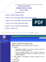Defensive Driving Course Lecture Feb. 27 06