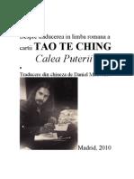 Calea Puterii Tao Te Ching - Daniel Medvedov