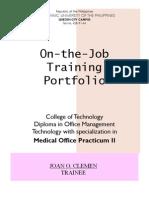 Portfolio Practicum II Joan Clemen