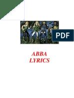 ABBA Lyrics (English)