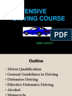 Defensive Driving Course July 23 2008