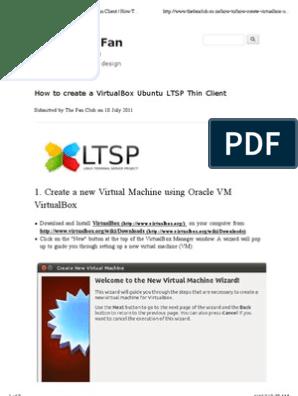 How to Create a VirtualBox Ubuntu LTSP Thin Client   How to