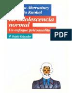 La adolescencia normal - Un enfoque psicoanalítico  - - Arminda Aberastury y Mauricio Knobel