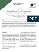 Temperature Profile of Catalyst Bed During Oxidative Steam Reforming of Methane Over Pt-Ni Bimetallic Catalysts