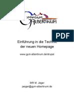 Anleitung zur Homepage