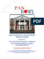 2013 Japan Bowl Study Guide 7 9 2012 REVISED