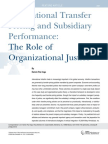 International Transfer Pricing and Subsidiary PerformanceThe Role of Organizational Justice