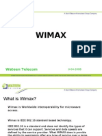 Wateen Presentation on Wimax