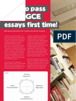 How Pass Your PGCE essays first time!