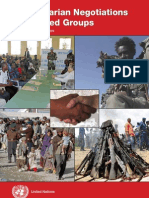 Negotiation With Armed Groups