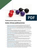 Publicaciones Bolas Chinas