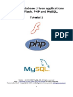 PHP Flash MySQL Tutorial 1