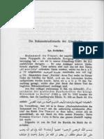 Die Bekenntnissformeln Der Almohaden-1890-Goldziher