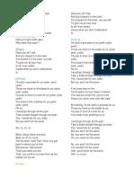 Lirik Lagu Bruno Mars Grenade