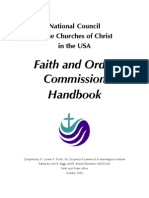 Faith and Order Handbook