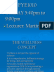 Week 6 Wellness Concept