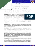 CSG Executive Order No. 2 AY 2013-2014