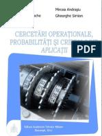 Cercetari Operationale, Probabilitati Si Criptologie. Aplicatii_Ed I_rev 20.11.2012