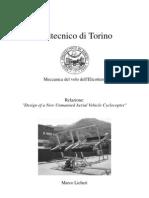 Report tecnico di ricerca sul ciclocoptero
