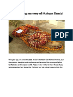 Maheen as she was -- a fighter, a patriot, a true soldier