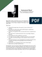 Philosopher Profiles Kant