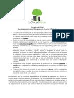 Comunicado Ave El Poblado - Metroplús