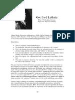 Philospher Profile Leibniz
