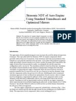 Advanced Ultrasonic NDT of Aero Engine