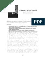 Philosopher Profile Machiavelli