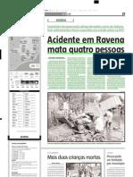 2005.01.13 - Acidente Em Ravena Mata Quatro Pessoas - Estado de Minas