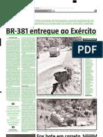 2005.02.26 - BR-381 entregue ao Exército - Estado de Minas