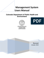 CDPHE CMS User Manual October2010