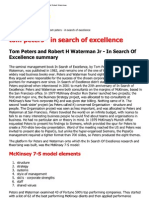 In Search of Excellence,...Ers and Robert Waterman