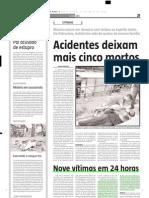 2005.05.27 - Nove vítimas em 24 horas - Estado de Minas