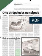 2005.06.06 - Acidente entre dois caminhões e uma moto No km 416 da BR-381 - Estado de Minas